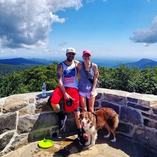 A day away from the studio to spend some quality hike time with the lady and pups 🕺🏼👟🙌🏻 I defiantly sweat my 🍑 off !🔥 - - - - #outdoors #djshoez #love #hiking #adventure #virginia #mountains #photgraphy #dogsofinstagram