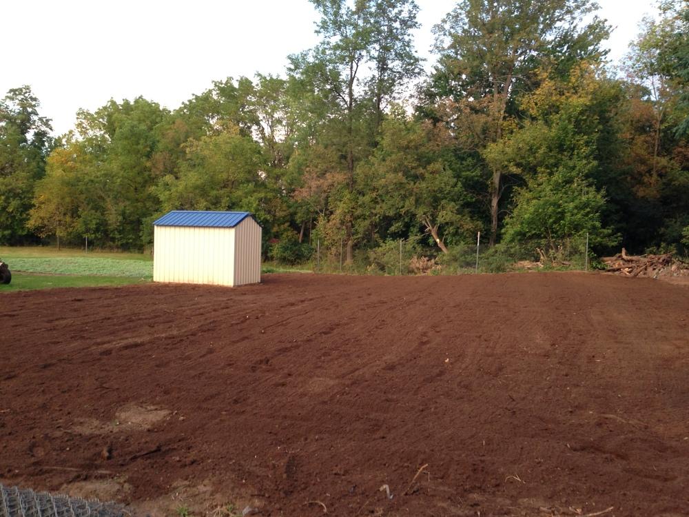 Finishing soil prep