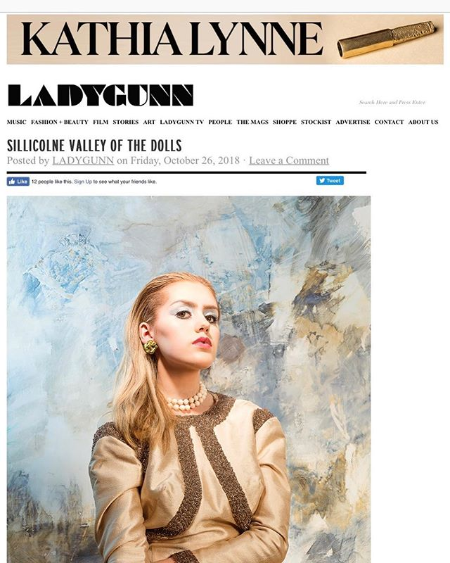 Check out Lady Gunn @ladygunnmagazine a shoot I did with @moorevintage and many more