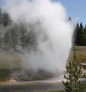 Riverside Geyser, Yellowstone National Park, WY.