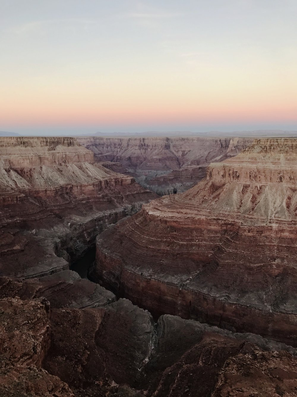Overlooking Grand Canyon from the proposed Marble Canyon Dam site. Photo by Joseph Holway.