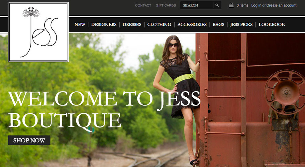 Jess Boutique Responsive Ecommerce Web Design, SEO, Online Marketing  >  website  >  case study