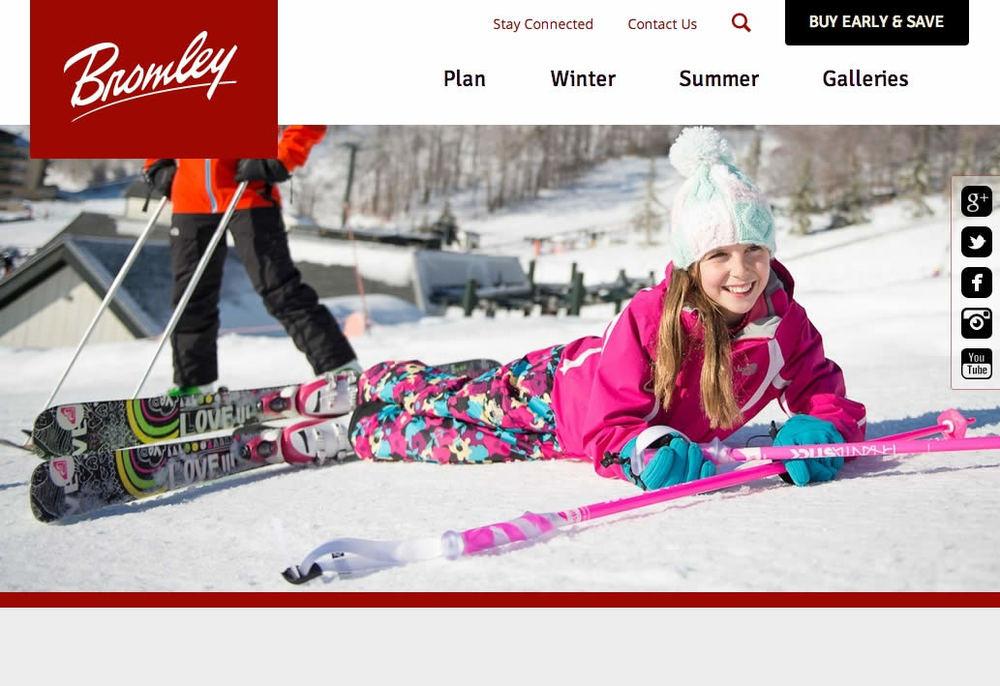 Bromley Mountain  Award Winning Responsive Web Design, SEO  >  website  >  case study
