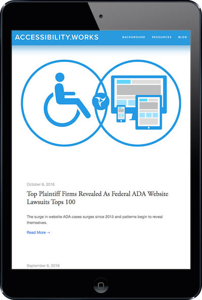 Screen shot of accessibility.works blog