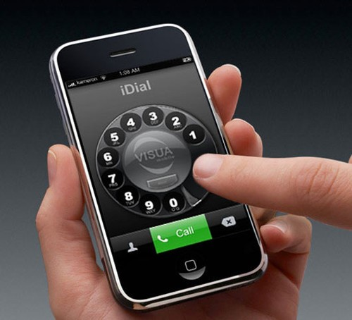 iphone with traditional dial phone interface
