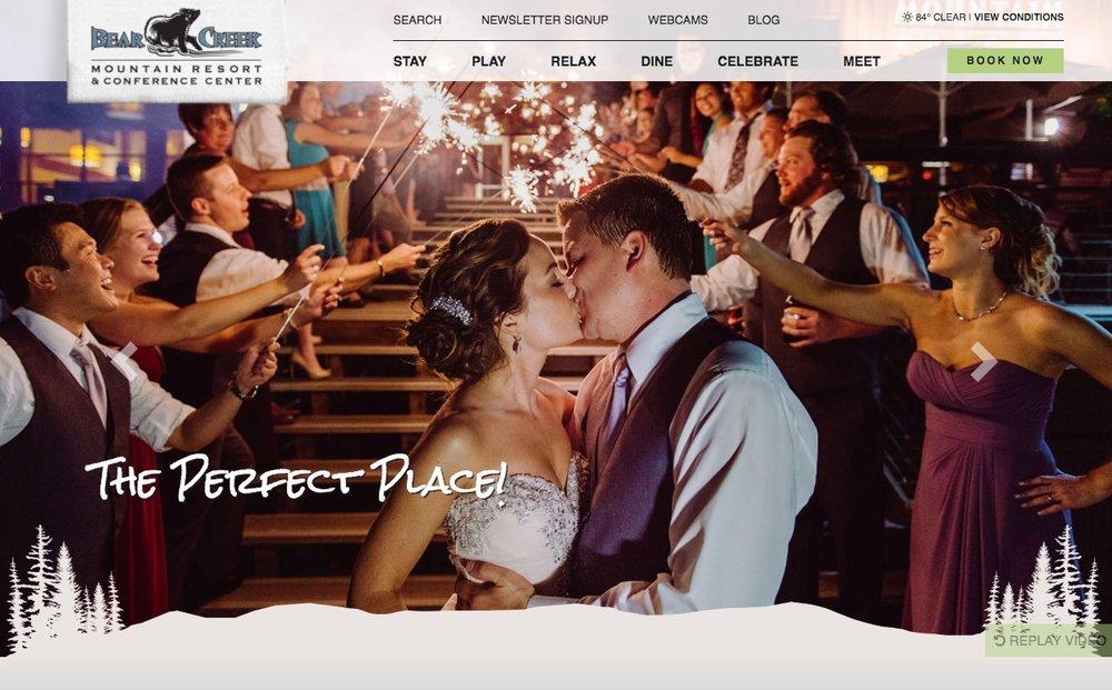 Bear Creek homepage screenshot