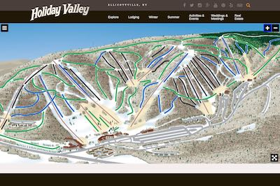 Holiday Valley Resort Map