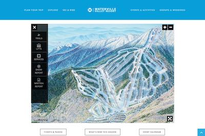 Waterville Valley Alpine Ski Map