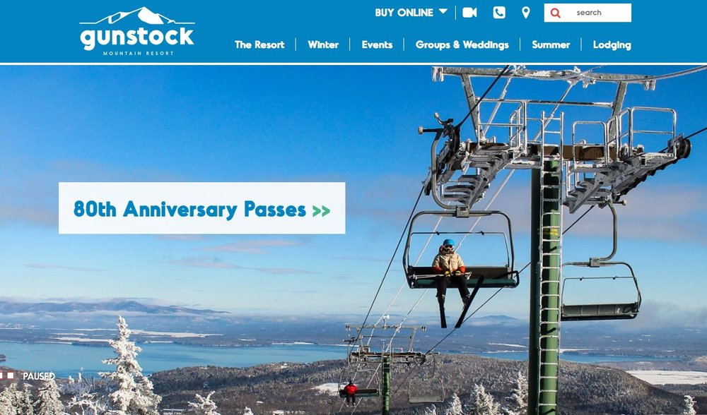 Gunstock Ski Resort  Responsive Web Design & SEO  >  website