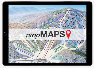 propMAPS is our interactive resort map that can be embedded into any webpage on any CMS. What is special is that propMAPS shows which trails are open or closed, and further, which have snowmaking, grooming, moguls, or a race course setup that day.  Mobile friendly  Pinch-Zoom-Pan touch screen features  Show open/closed/hold, and trails with moguls, groomed, snow making, and race courses  Unlimited Trail/lift/point updates included  Embedded Conditions Report   Learn More