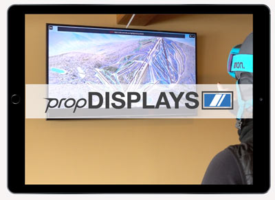 propDISPLAYS is a digital signage system that leverages the web-connect features of modern large screen TVs.  TVs can either display one or rotate multiple display modules which include:  Promo Module  Video Module  Instagram Module  propMAPS Module  propCONDITIONS Module   Learn More