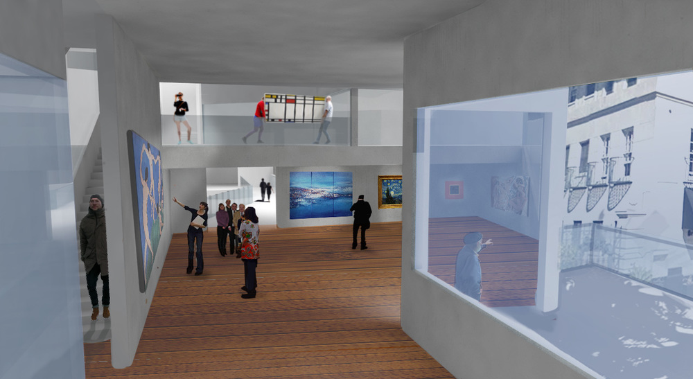GALLERY + WORKSHOP INTERIOR VIEW