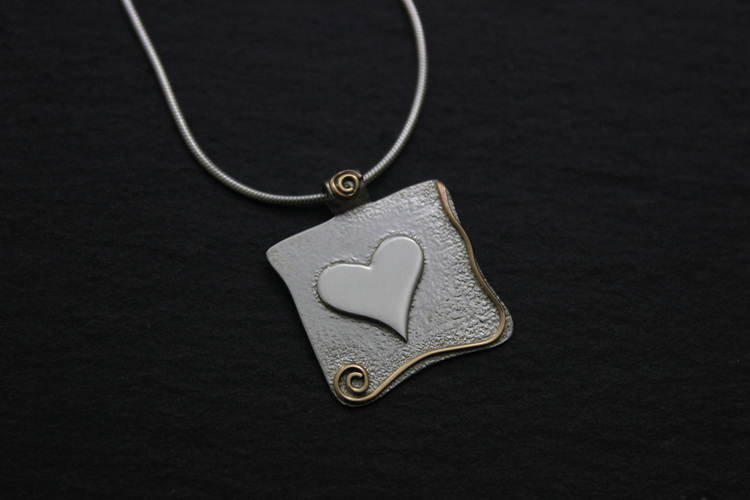 Completely new Square heart necklace — Pretty Things FS33