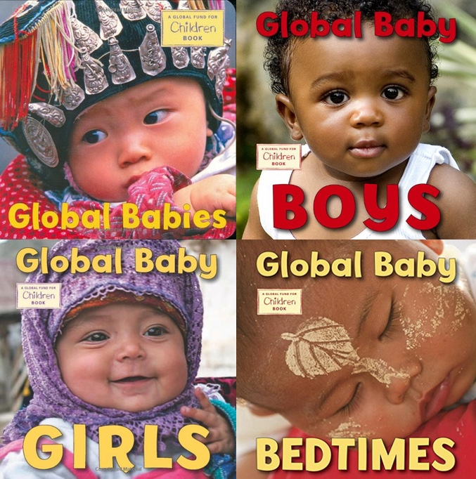 These beautiful photographs are paired with simple, poetic text that expresses just how precious babies are. Clockwise from top left: Global Babies, Global Baby Boys, Global Baby Bedtimes, and Global Baby Girls