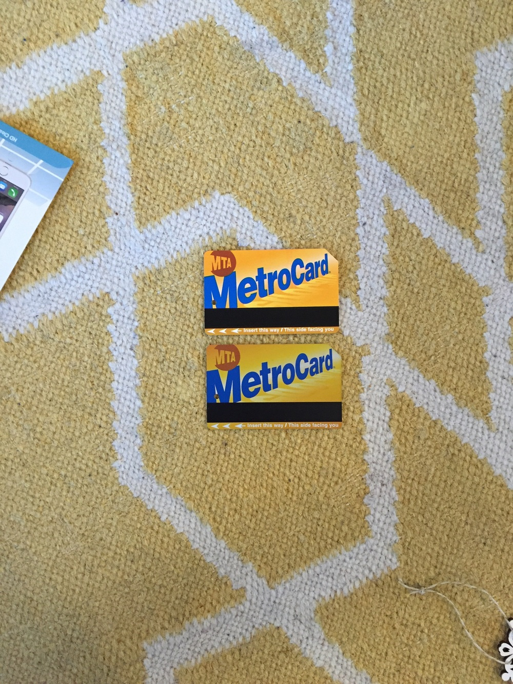 During his work, he found two Metrocards and matched them!