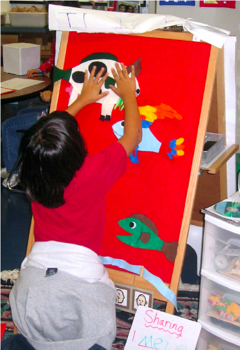 Throwback to 2007 and my first felt board activity in action! It has been used by dozens of children since then, and hopefully by Wilson some day!