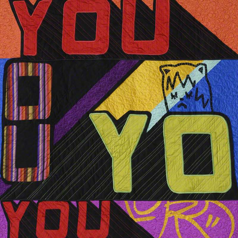 "You and I, 36"" x 36"", Silk and Cotton Quilt, ©2012"