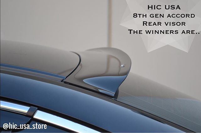 Rear Visor winners are @real_hooligan and @slowaccord  Thank you for participating, we need your delivery address please DM. #hicusa #8thgenaccord #rearvisor #accord