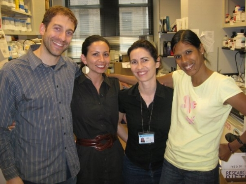 Columbia University days. From left, Drs. Geoffrey Catalano, Marcella Flores, Lucrezia Colonna, and Nina Shah.