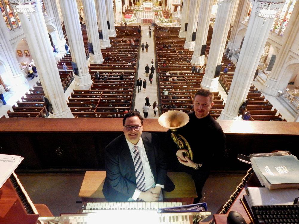 Horn and Organ. Nuckols and Ball. duo corgano.