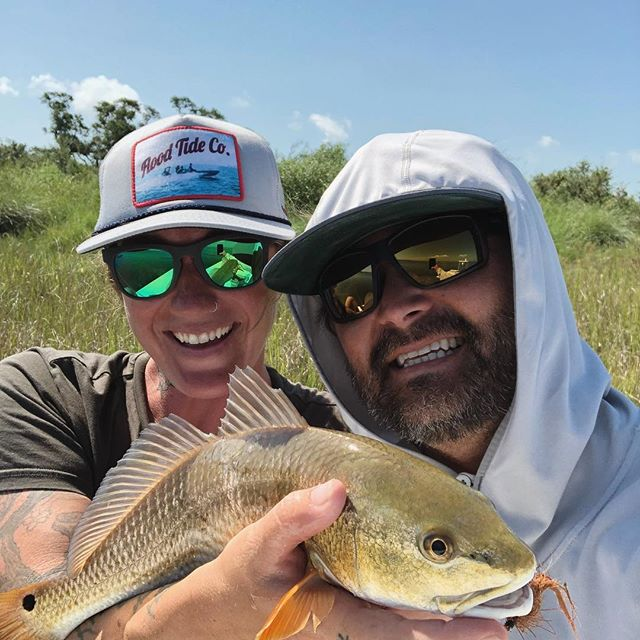 Fished Rockport for the first time in a long time. Thanks for the good times @kaceebones #redfish #flyfishing #nicehat