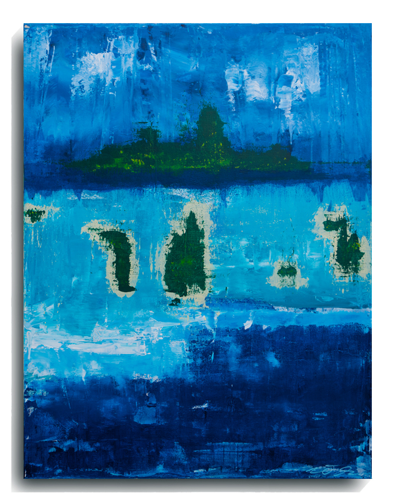 Bora Bora,   2015, Acrylic on canvas panel, 40 x 30 inches, $1200     Contact Mark Sivertsen