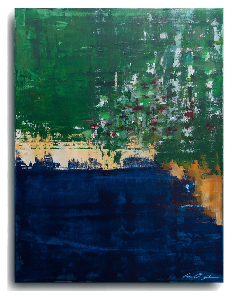 St Barth's   , 2015, Acrylic on canvas panel, 40 x 30 inches, $1200     Contact Mark Sivertsen