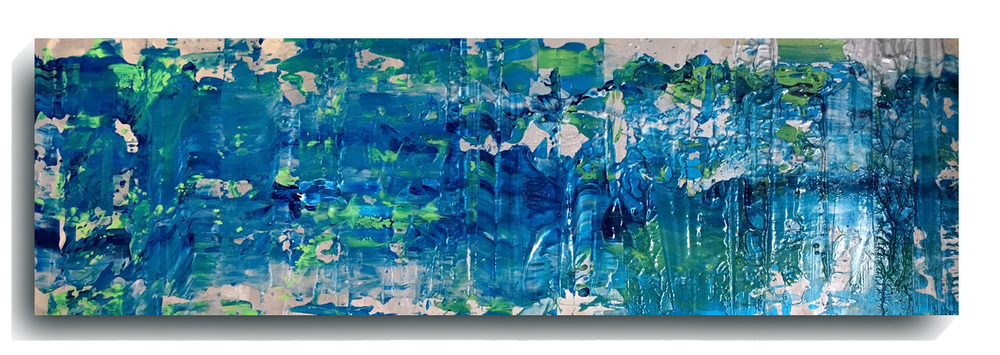 Rorschach     Panoramic    12,   2016, Acrylic on wood panel, 12 x 36 inches, $495     Contact Mark Sivertsen
