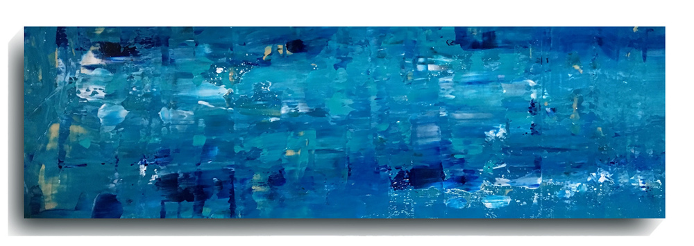 Shards     Panoramic     02,   2015, Acrylic on wood panel, 12 x 36 inches, $495     Contact Mark Sivertsen