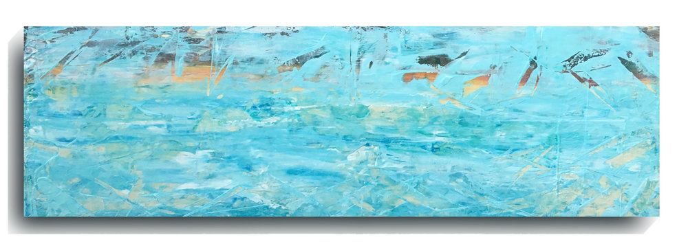 Shards     Panoramic    12,   2016, Acrylic on wood panel, 12 x 36 inches, $495     Contact Mark Sivertsen