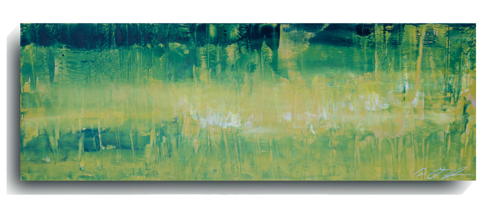 Rorschach     Panoramic     05,    2015, Acrylic on wood panel, 12 x 36 inches, $495        Contact Mark Sivertsen