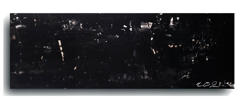 Shards     Panoramic     05 - Darth Vader,   2015, Acrylic on wood panel, 12 x 36 inches, SOLD