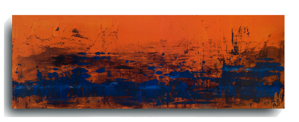 Rorschach     Panoramic    32,   2016, Acrylic on wood panel, 12 x 36 inches, $495     Contact Mark Sivertsen