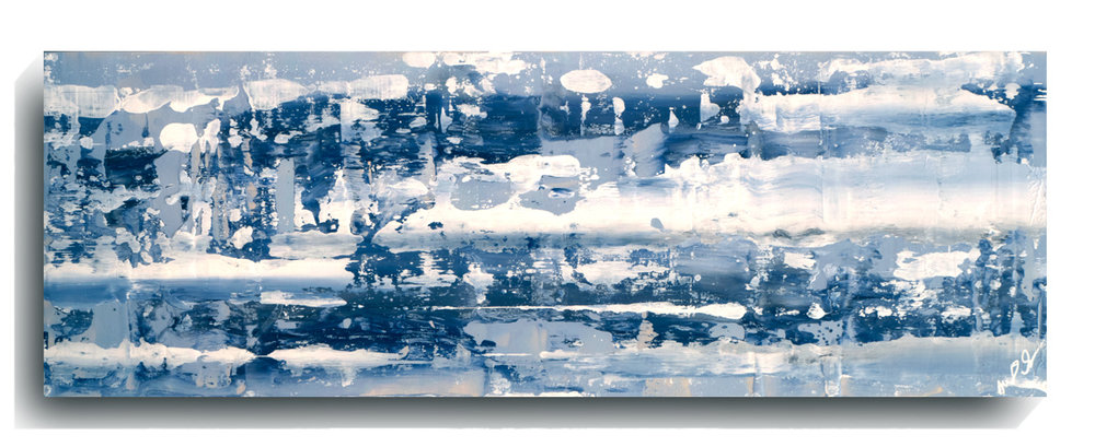 Rorschach     Panoramic    23,   2016, Acrylic on wood panel, 12 x 36 inches, $495     Contact Mark Sivertsen