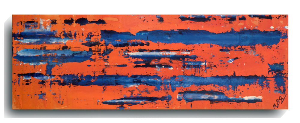 Rorschach     Panoramic    24,   2016, Acrylic on wood panel, 12 x 36 inches, $495     Contact Mark Sivertsen