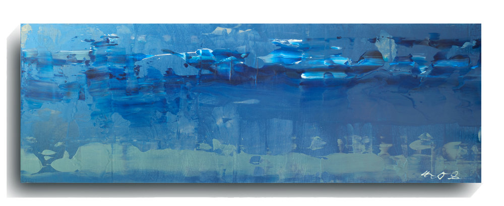 Rorschach     Panoramic     07,   2016, Acrylic on wood panel, 12 x 36 inches, $495     Contact Mark Sivertsen