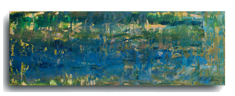 Shards     Panoramic    09,   2016, Acrylic on wood panel, 12 x 36 inches, $495     Contact Mark Sivertsen