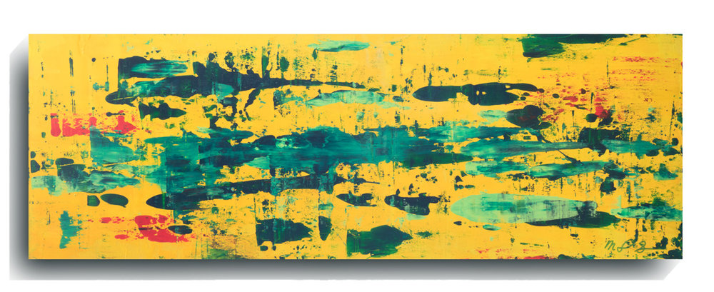 Rorschach Panoramic 10,   2016, Acrylic on wood panel, 12 x 36 inches, $495     Contact Mark Sivertsen