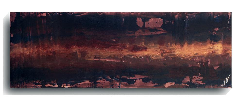 Beam     Panoramic     03   , 2016, Acrylic on wood panel, 12 x 36 inches, $495     Contact Mark Sivertsen