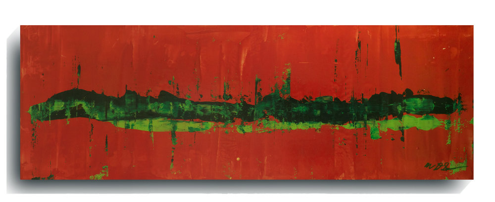 Rorschach     Panoramic    11,   2016, Acrylic on wood panel, 12 x 36 inches, $495     Contact Mark Sivertsen