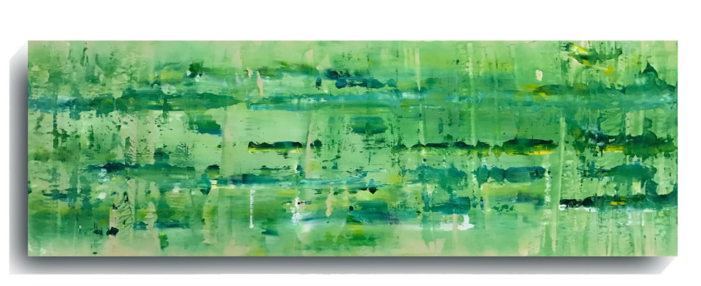 Rorschach     Panoramic    35,   2016, Acrylic on wood panel, 12 x 36 inches, $495     Contact Mark Sivertsen