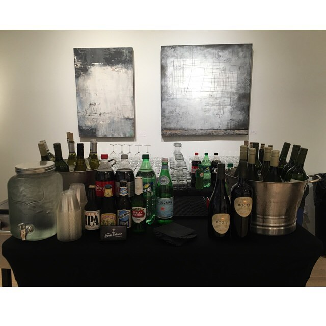 Beer/wine/soda bar set up  @ the beautiful Montegue Glass Gallery in SF! . . . . . . . #sfevents #glassgallery #monteguegallery #artevent #snacks #beerwinesoda #bartenderforhire #tlc #pme #theliquidcaterers