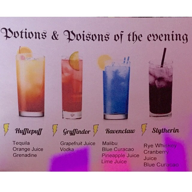 Potions & Poisons cocktail list ✨🌚🍹🔮 . . . . . . . . #potions #poison #harrypotter #themedcocktails #tlc #theliquidcaterers #themedparty #signaturedrink #pme #sfevents #bartenderforhire