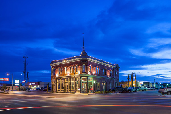 The Trinity Hotel in Carlsbad, NM. Originally built in 1892 as the First National Bank and only photographed when the sky is deep blue.