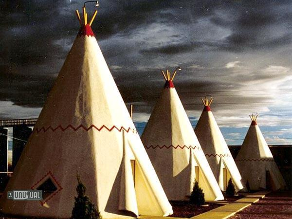 "Teepees at Wigwam Motel, conveniently located just across the street from Safeway, a proud sponsor of The Bearded Man Tour. A Safeway spokesperson recently stated, ""We are unaware of any such sponsorship."""