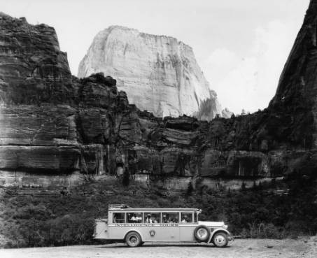 The closest Uber - Seen here dropping off his last fare in Zion National Park. The driver, 78 year old Mahnoor Bajwa, is struggling to cover fuel costs for his modified tour bus and is actively searching cars.com for a used Prius.
