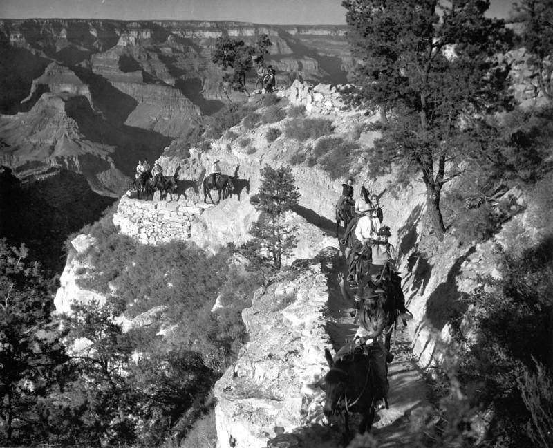 Part of the infamous Teddy Roosevelt Grand Canyon mule ride after politely asking the Havasupai Indians to leave. Teddy once declared that the Grand Canyon was something everyone should see. TBM once said the Grand Canyon is something every person should hike in good sturdy boots. Two very similar great men.