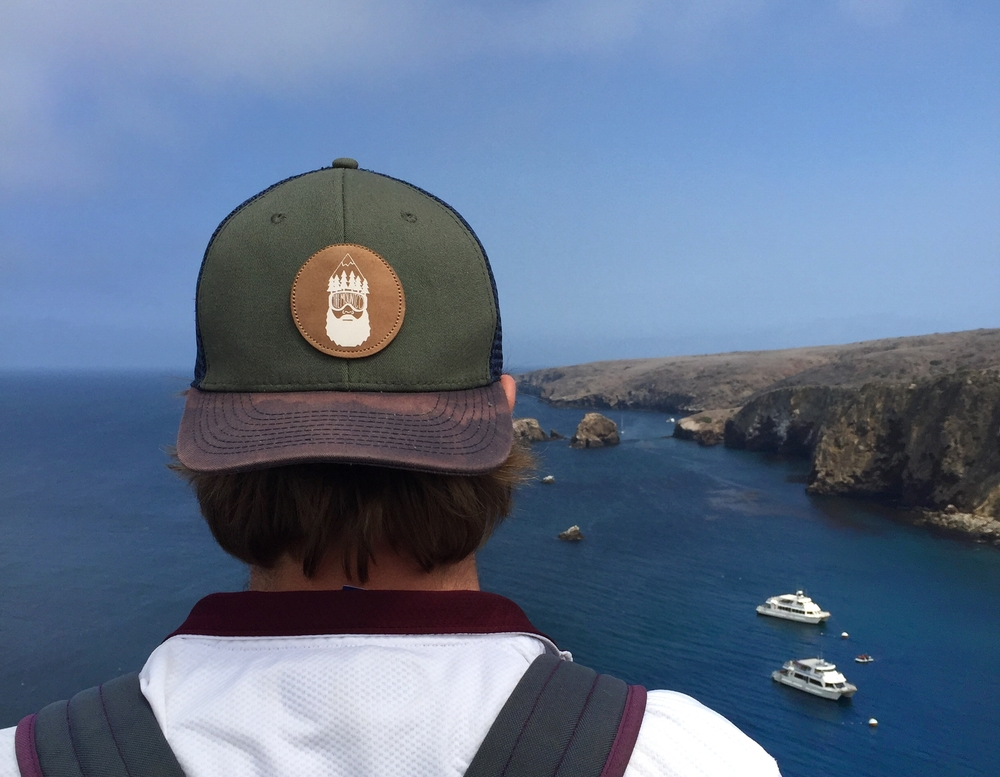 This is Kyle Koseck sporting The Bearded Man on Channel Islands. What are the friggin odds that this would happen? Kyle sends us a photo from the Channel Islands while The Bearded Man is touring the Channel Islands. If I get a photo from Yosemite tomorrow I may cry.