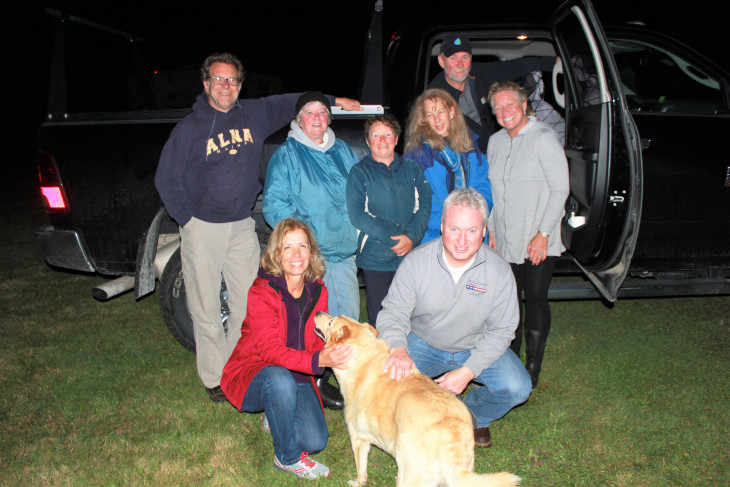 LEFT TO RIGHT: MIKE, MARIE, LITTLE MARIE, AMY, GARY, PEGGY, DUNCAN, THE DOG WHO'S NAME I CAN'T REMEMBER AND CONNIE.