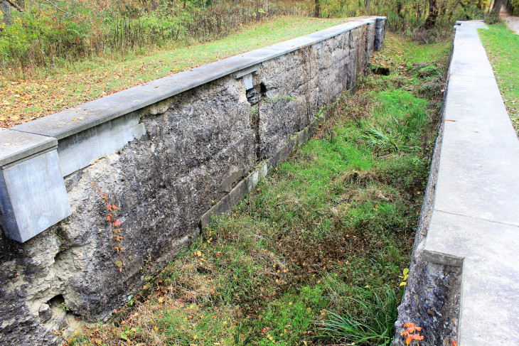 ONE OF THE 44 LOCKS THAT MADE UP THE OHIO ERIE CANAL THAT RAN THROUGH WHAT IS NOW CUYAHOGA VALLEY NATIONAL PARK.  THE RAILROAD MADE THE CANAL OBSOLETE, BUT MANY OF THE PEOPLE THAT LIVED ALONG ITS ROUTE REMAINED.